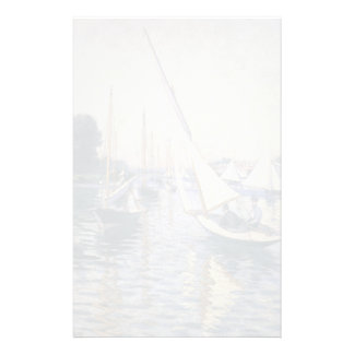 Gustave Caillebotte- Regatta at Argenteuil Custom Stationery