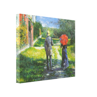 Gustave Caillebotte- Rising Road Canvas Print