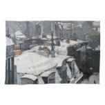 Gustave Caillebotte - Rooftops in the Snow Kitchen Towel