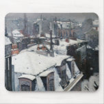 Gustave Caillebotte - Rooftops in the Snow Mouse Pad