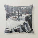Gustave Caillebotte - Rooftops in the Snow Throw Pillow