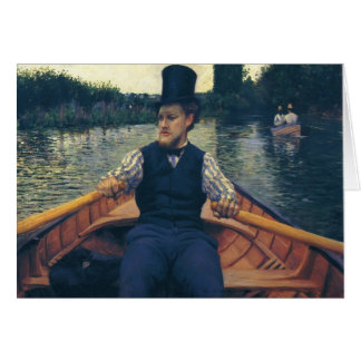 Gustave Caillebotte- Rower in a Top Hat Greeting Cards