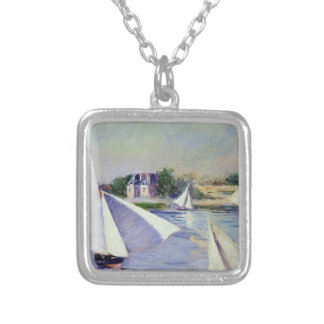 Gustave Caillebotte- Sailboats on  the Seine Custom Necklace
