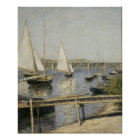 Gustave Caillebotte - Sailing Boats at Argenteuil Poster
