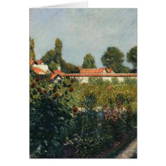 Gustave Caillebotte- The Garden of Gennevillers Cards