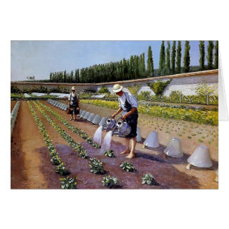 Gustave Caillebotte- The Gardeners Greeting Card