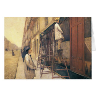 Gustave Caillebotte- The House Painters Greeting Card