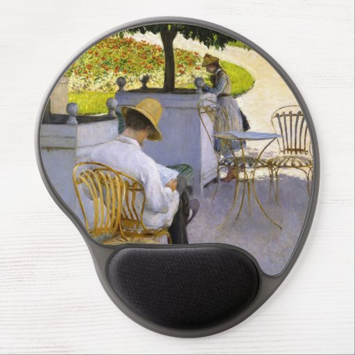 Gustave Caillebotte - The Orange Trees Gel Mouse Pad