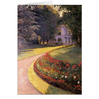 Gustave Caillebotte- The Park at Yerres Card