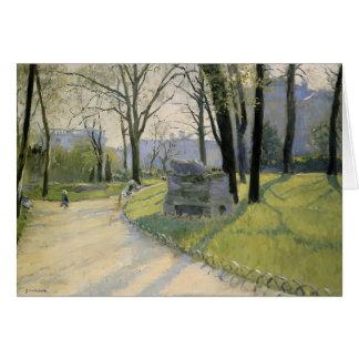 Gustave Caillebotte- The Park Monceau Card