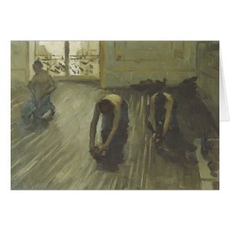 Gustave Caillebotte- 'The Parquet Planers' Greeting Cards