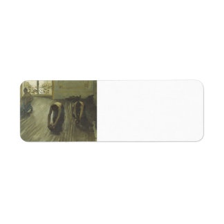 Gustave Caillebotte- 'The Parquet Planers' Return Address Label
