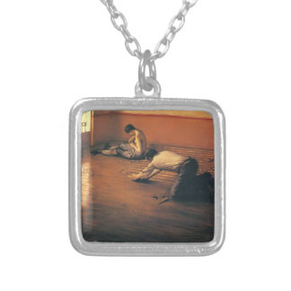 Gustave Caillebotte- The Parquet Planers Custom Necklace