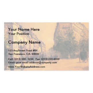Gustave Caillebotte- The Perpiniere Barracks Double-Sided Standard Business Cards (Pack Of 100)