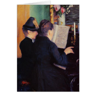 Gustave Caillebotte- The Piano Lesson Cards