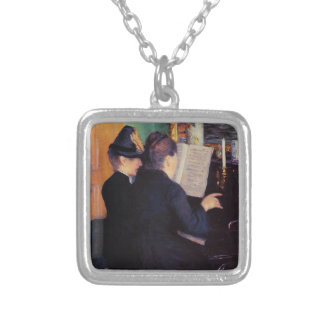 Gustave Caillebotte- The Piano Lesson Personalized Necklace