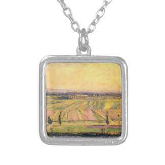 Gustave Caillebotte- The Plain of Gennevilliers Custom Jewelry