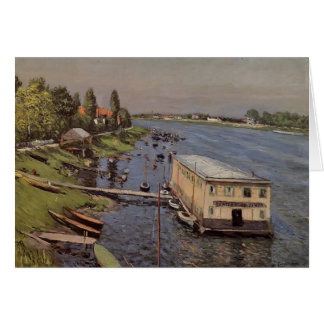 Gustave Caillebotte- The Pontoon at Argenteuil Greeting Card