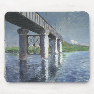 Gustave Caillebotte - The Seine and the Railroad Mouse Pad