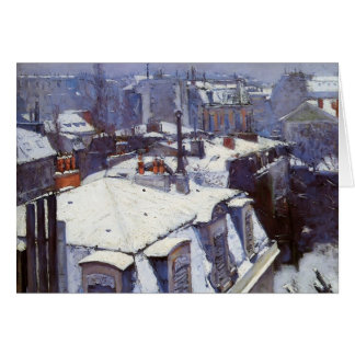 Gustave Caillebotte- View of Roofs under Snow Greeting Card