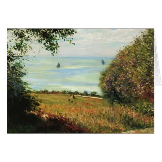 Gustave Caillebotte- View of Sea from Villerville Card