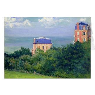 Gustave Caillebotte- Villas at Villers sur Mer Greeting Cards