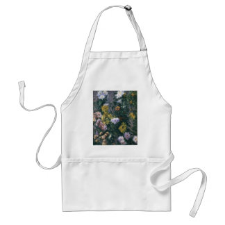 Gustave Caillebotte- White & Yellow Chrysanthemums Adult Apron