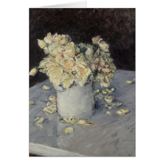 Gustave Caillebotte- Yellow Roses in a Vase Greeting Card