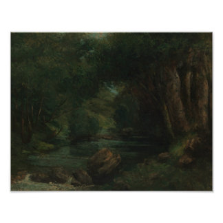 Gustave Courbet - A Brook in the Forest Poster
