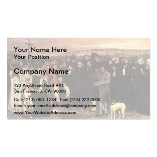 Gustave Courbet- A Burial at Ornans Business Card
