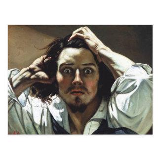 Gustave Courbet - autorretrato el hombre Postal