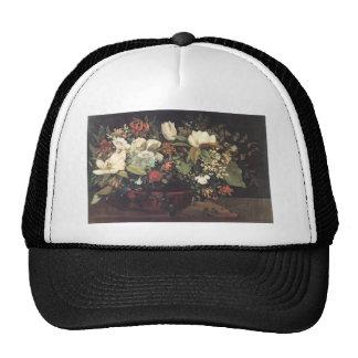 Gustave Courbet- Basket of Flowers Trucker Hat