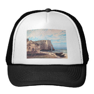 Gustave Courbet- Cliffs at Etretat after the storm Trucker Hat