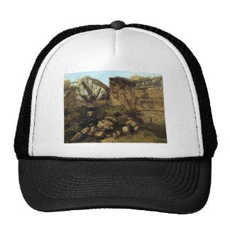 Gustave Courbet- Crumbling Rocks Trucker Hat