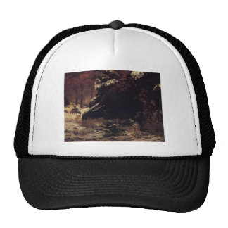 Gustave Courbet- Deer in the Snow Trucker Hat