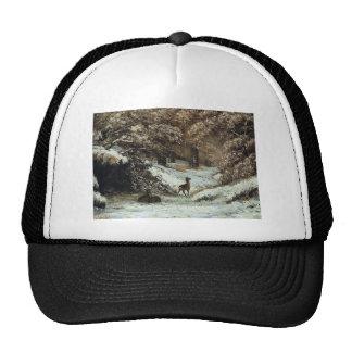 Gustave Courbet- Deer Taking Shelter in Winter Trucker Hat