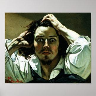 Gustave Courbet - el hombre desesperado Póster