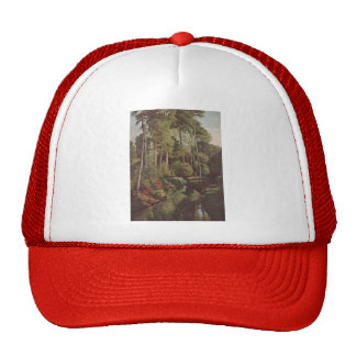 Gustave Courbet- Forest Brook with Deer Trucker Hat