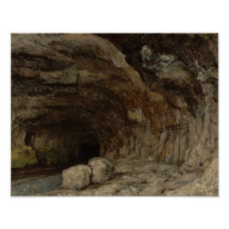 Gustave Courbet - Grotto of Sarrazine Poster