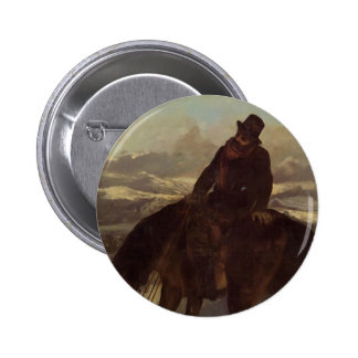 Gustave Courbet- Hunter on Horseback Button