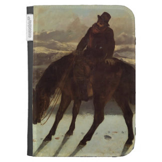 Gustave Courbet- Hunter on Horseback Kindle Folio Case