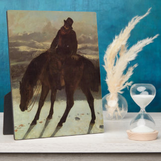 Gustave Courbet- Hunter on Horseback Photo Plaque