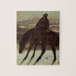 Gustave Courbet- Hunter on Horseback Jigsaw Puzzles