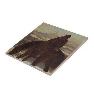Gustave Courbet- Hunter on Horseback Tiles