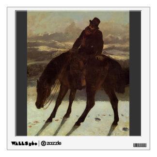 Gustave Courbet- Hunter on Horseback Wall Sticker