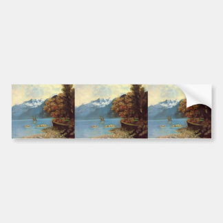 Gustave Courbet- Lake Leman Car Bumper Sticker