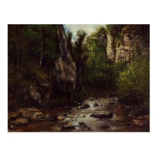 Gustave Courbet- Landscape near Puit Noir, Ornans Postcard
