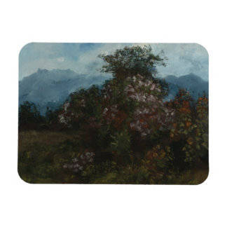 Gustave Courbet - Landscape with Flowery Massiv Magnet