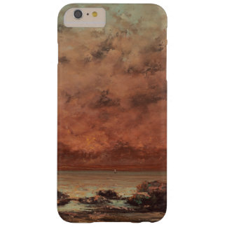 Gustave Courbet las rocas del negro en Trouville Funda De iPhone 6 Plus Barely There