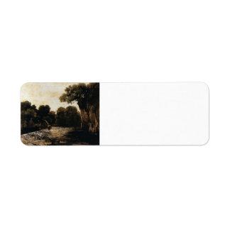 Gustave Courbet- Locks on the Loue Return Address Label